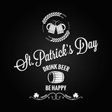 Patrick day beer label design vector background Stock Photos