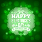 Patrick day beer mug background Royalty Free Stock Photo