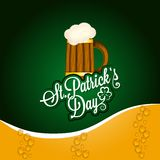 Patrick day beer mug vintage background Royalty Free Stock Image