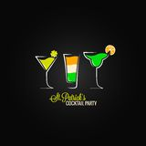 Patrick day cocktail design background Stock Image