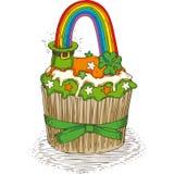 Patrick Day Cupcake stock abbildung