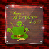 Patrick day glass banner Royalty Free Stock Photos
