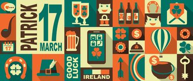 Patrick day icons Stock Photos