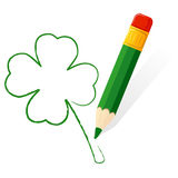 Patrick day paint clover Stock Photo