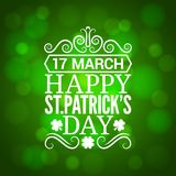 Patrick day sign design background Stock Images
