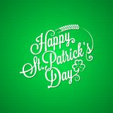 Patrick day vintage lettering background Royalty Free Stock Photos