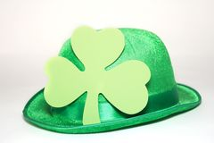 Patrick decoration. Background with clover and irish hat royalty free stock images