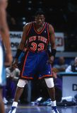 Patrick Ewing New York Knicks. Patrick Ewing Center for the New York Knicks in game action during a regular season game Stock Images