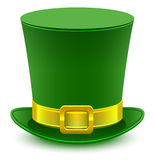 Patrick green hat with gold buckle Stock Photo