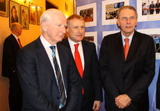 Patrick Hickey, Grygorii Surkis and Jacques Rogge Royalty Free Stock Image
