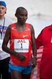 Patrick Ivuti at 2009 Honolulu Marathon. Kenyan athlete Patrick Mutuki Ivuti minutes after winning the 37th Honolulu Marathon on December 13, 2009 Royalty Free Stock Photos