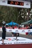 Patrick Ivuti wint de Marathon van Honolulu van 2009 Stock Fotografie