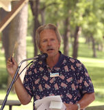 Patrick J. McPherson speaks at Tea Party Stock Photography