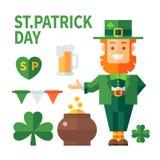 Patrick jest szczęśliwy dzień św Obraz Stock