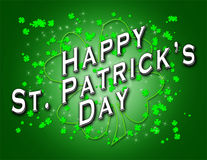 Patrick jest szczęśliwy dzień świętego Obrazy Royalty Free