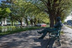 Patrick Kavanagh Statue Lizenzfreies Stockbild