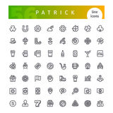 Patrick Line Icons Set Royalty Free Stock Images