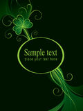 Patrick Ornate Background. With shamrock and place for text Royalty Free Stock Photos