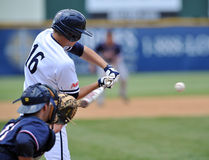 Patrick Paligraf. CAMDEN, NJ - MAY 25: Xavier University infielder Patrick Paligraf (#16) swings at a pitch during an opening round game in the Atlantic 10 Royalty Free Stock Photos