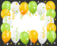 Patrick s Day Balloons & Confetti Frame Royalty Free Stock Photos