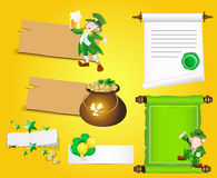 Patrick's Day Banners and Scrolls. Abstract Artistic Design of Patrick's Day Banners and Scrolls Royalty Free Stock Image
