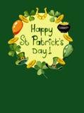 Patrick`s day card Stock Image