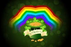 Patrick's Day Card with  Leprechaun Hat Stock Photo