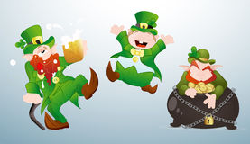 Patrick's Day Cartoons Characters Stock Photo
