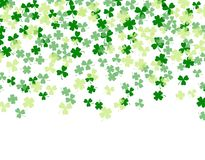 Patrick`s Day. Clover leaves isolated on white background. Flat design. illustration. Patrick`s Day. Clover leaves isolated on white background. Flat design Royalty Free Stock Photos