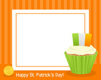 Patrick s Day Cupcake Horizontal Frame Royalty Free Stock Image