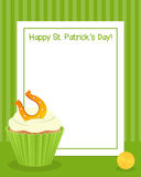 Patrick s Day Cupcake Vertical Frame Stock Photos