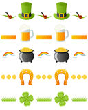 Patrick s Day Dividers Set [1]. Set of five St. Patricks or Saint Patrick s Day seamless dividers, useful as design elements, borders or banners. Eps file royalty free illustration