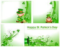 Patrick's Day Floral Backgrounds. Creative Decor Art of Patrick's Day Floral Backgrounds Stock Illustration
