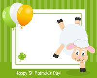 Patrick s Day Horizontal Frame with Sheep Stock Images