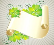 Patrick\'s Day illustration with  scroll Stock Photo
