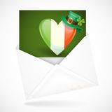 Patrick's Day. Irish Flag In The Shape Of A Heart Royalty Free Stock Photos