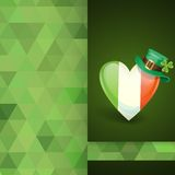Patrick's Day. Irish Flag In The Shape Of A Heart Royalty Free Stock Photography