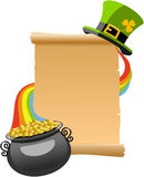 Patrick s Day Old Parchment Royalty Free Stock Photography