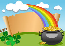 Patrick s Day Old Parchment Outdoor Royalty Free Stock Photos