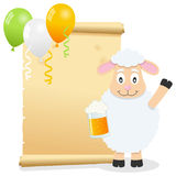 Patrick s Day Parchment with Sheep Royalty Free Stock Photos