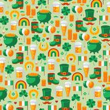 Patrick's Day seamless pattern with traditional Stock Images