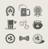 Patrick's day set of icons Royalty Free Stock Photography