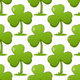 Patrick s Day Shamrock Seamless Pattern Stock Images