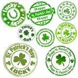 Patrick's Day Stamps. Abstract Decor Art of Patrick's Day Stamps Stock Images