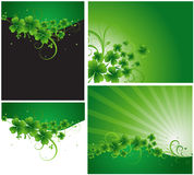 Patrick's Day Vector Designs. Creative Abstract Design of Patrick's Day Vector Shamrock Background Royalty Free Stock Photography