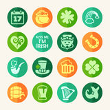 Patrick's Day web icon set Royalty Free Stock Images