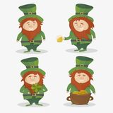 patrick saint Nationell irländsk ferie - vektoruppsättning royaltyfri illustrationer