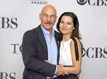 Patrick Stewart and Kate Fleetwood. British actors Patrick Stewart and Kate Fleetwood, who appear together in `Macbeth,` attend the 62nd Annual Tony Awards Meet Stock Photos