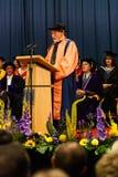 Patrick Stewart que recibe el doctorado honorario imágenes de archivo libres de regalías