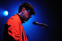 Patrick Wolf (singer from London) performs at Apolo Royalty Free Stock Image